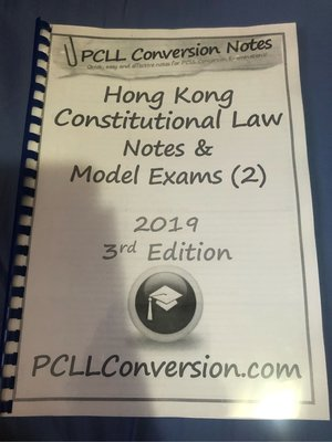 PCLL Conversion - Hong Kong Constitutional Law Notes