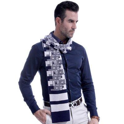 羊毛 圍 巾-商務紳士幾何圖形秋冬防寒男女披肩3色73ts5[獨家進口][米蘭精品]