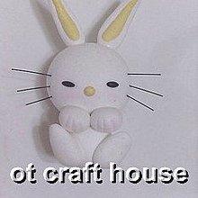 Bunny兔磁鐵 ~~ (黏土) 超輕土 生日 婚禮 小物 畢業 禮物 冰箱 磁鐵【Ot Craft House】