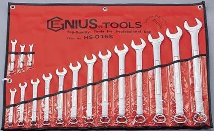 """【ToolBox】~ 加拿大-Genius-英制/梅開扳手工具組-16件式工具組1/4"""" ~1-1/4"""""""