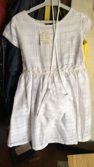 畢業女童畢業小禮服白色表演服白色小洋裝