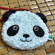 日本帶回~上野動物園~超可愛貓熊附長背袋小零錢包