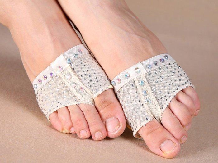 ~優作坊~S333_ 款貼鑽減壓腳掌套、半截鞋、瑜伽鞋、體操鞋、韻律舞鞋、兒童舞鞋、芭蕾舞