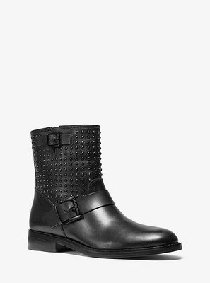 MICHAEL KORS Reeves Studded Leather Moto Boot
