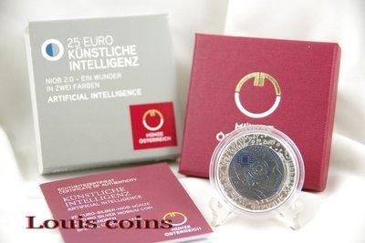【Louis Coins】F056‧Austrian‧2019奧地利‧銀鈮雙金屬人工智能紀念幣