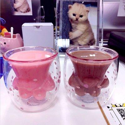 5Cgo【權宇】貓爪杯全新促銷雙層玻璃杯220ml 與星巴克同款式中國製非正品 另有香港正品目前特惠價1200元 含稅