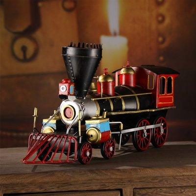 復古懷舊擺件鐵皮蒸氣火車頭~loft 民宿 餐飲 居家 攝影(兩款可選)*Vesta 維斯塔*