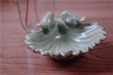~愛麗絲 家飾雜貨~ zakka 陶瓷小鳥置物盤 小物收納盤