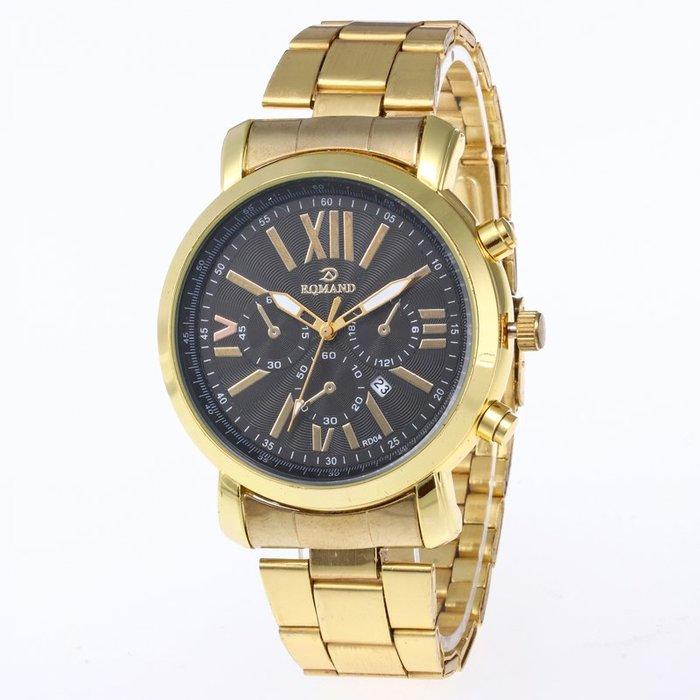 888利是鋪-新款鋼帶腕表時尚男士不銹鋼水鉆手表潮流休閑手表 #手錶