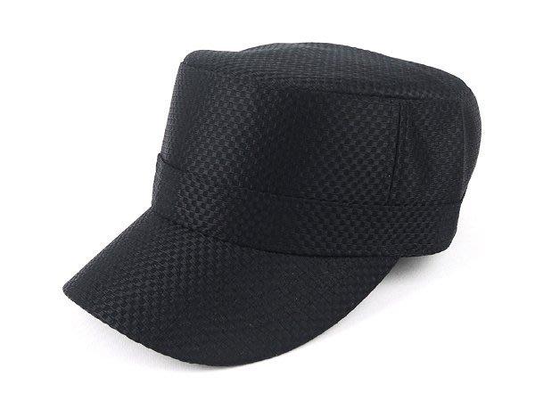【二鹿帽飾】新款廚師帽工作帽 -加高硬挺(透氣布)最新潮流時尚新風格 /素色 透氣 軍帽-MIT-紳士黑