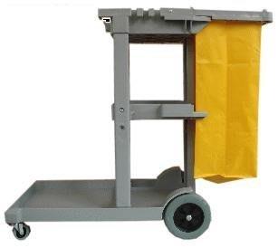 清潔工作推車 多用途工作推車 三層推車  清潔車 工具車 推車  全新 附黃色帆布袋1個 保證A級貨