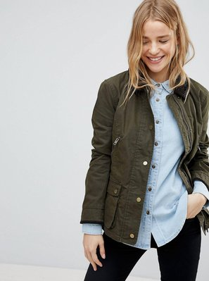 M現貨抵台*破盤含運價*Jack Wills Jacket 英國品牌 橄欖綠款 百搭 輕油布 外套/夾克