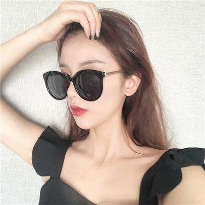 墨鏡女2019新品圓臉大臉顯個性復古簡約太陽眼鏡街拍潮
