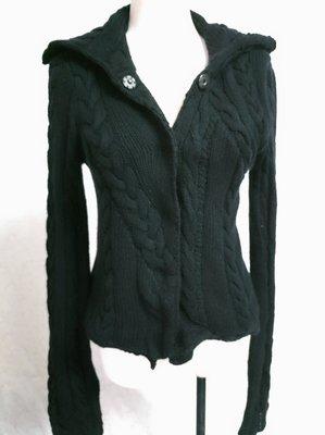 近全新 雙層超厚~美國專櫃品牌INHABIT 100% cashmere 喀什米爾 羊絨  超柔 不對稱設計外套~D58