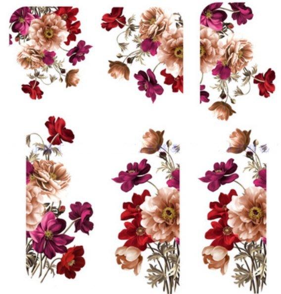 小妮子的家@手繪系列水移畫/古典玫瑰轉印貼紙/家具貼/瓷磚貼/玻璃貼~jj4220.2