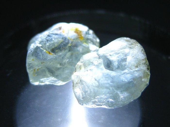 拓帕石 Topaz 天然無燒無處理 自然藍 原礦 標本 礦石 19【Texture & Nobleness 低調與奢華】