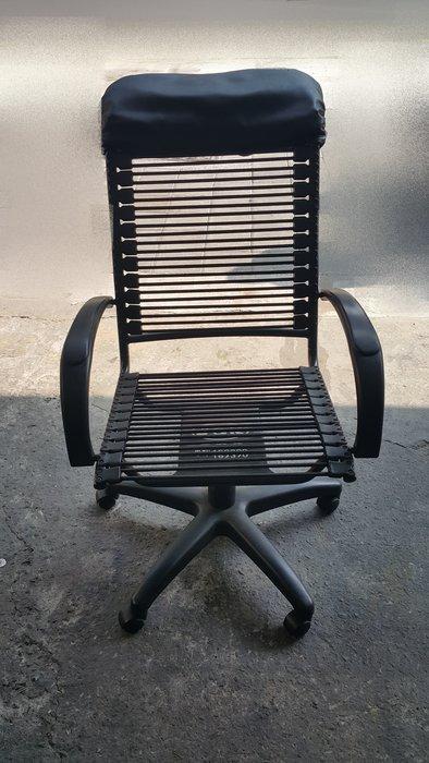 樂居二手家具 CF50227 黑色彈簧條狀辦公椅 書桌椅 洽談椅 OA椅 辦公椅 電腦椅 會議桌椅 辦公桌椅 2手家具