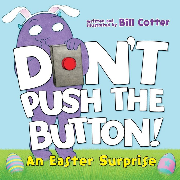 *小貝比的家*DONT PUSH THE BUTTON: EASTER SURPRISE/硬頁書/3~6歲
