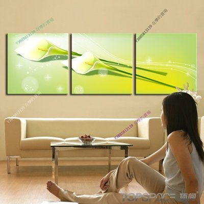 【40*40cm】【厚1.2cm】經典花卉-無框畫裝飾畫版畫客廳簡約家居餐廳臥室牆壁【280101_333】(1套價格)