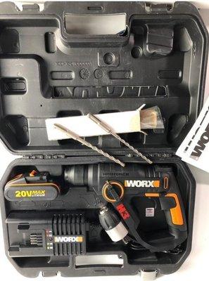 售完 WORX 威克士 WX390 四溝錘電鎚20V鋰電帶工具箱