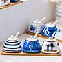 陶瓷調味罐日式創意廚房調味盒套裝組合裝鹽...