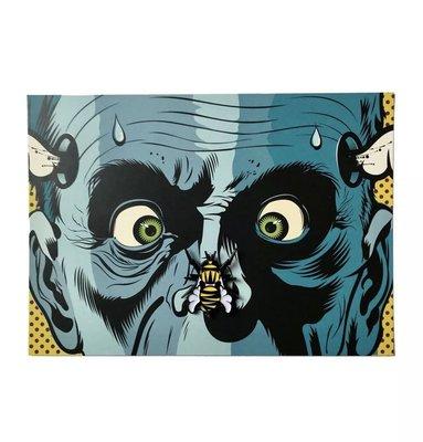 Dface pin limited edition 80pcs 限定 art print street art urban art fine art Kaws