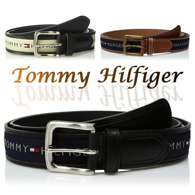 Tommy Hilfiger Mens Ribbon Inlay Belt 男皮帶 保證正品 美國空運來台【L23】