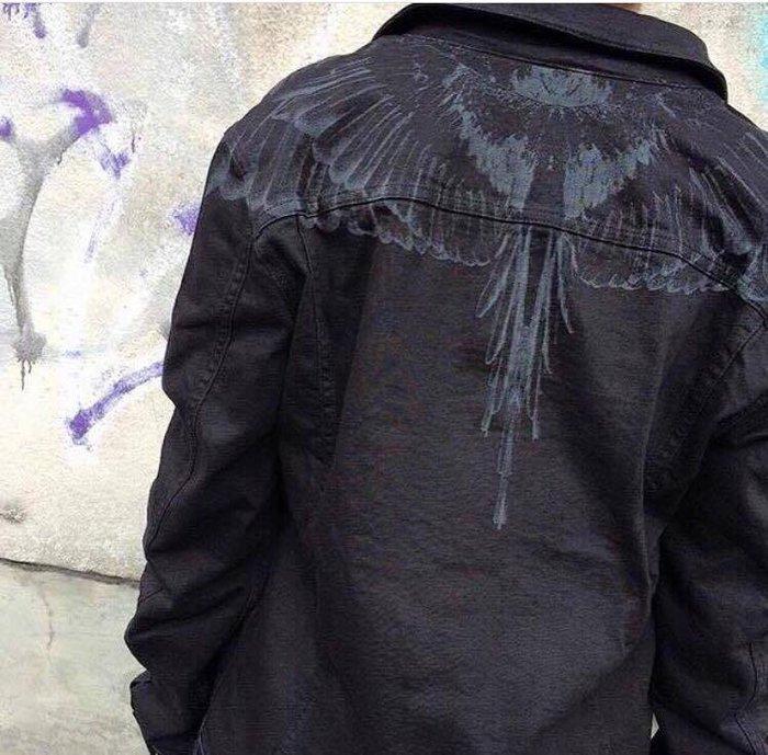 【TONES.】 MARCELO BURLON MB FW16 Long 黑白 拼接長板襯衫