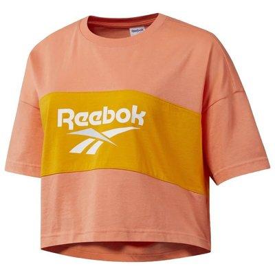 =CodE= REEBOK CLASSIC VECTOR CROP TEE 短版寬版棉質短T(橘黃) DX3812 女