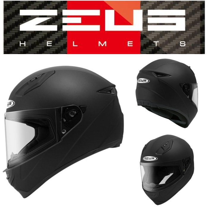 瑞獅 ZEUS(消光黑)素色款 吸濕排汗涼爽 安全帽 輕量化 可拆洗內襯 821 全罩式 小帽體