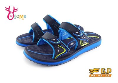 【2件折80】GP拖鞋 童拖鞋 休閒涉水拖鞋 中大童O8914#藍色OSOME奧森童鞋