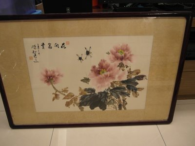 台灣早期國畫家原作-花開富貴