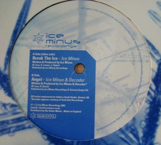 [狗肉貓]_ Ice Minus &  Decoder_Break The Ice / Angel _ LP