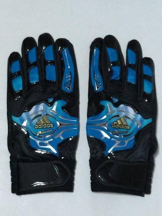 貳拾肆棒球-日本帶回 Adidas profession model 職業契約打擊手套一雙/水晶藍L