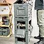 【綠色工場】CampingBar 軍風折疊側開收納箱 居家收納 側開收納箱 折疊收納箱 露營收納箱 軍綠色