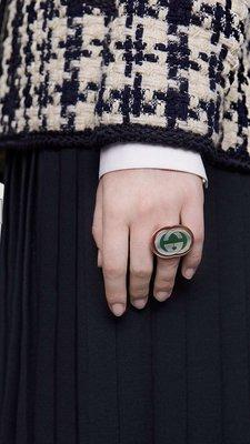 Gucci 雙 G 金屬戒指