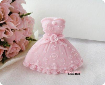 《魔法泡泡Simplywhite》手工皂模/矽膠模/土司模/香皂模/吐司模- S10001 玫瑰禮服