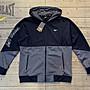 塞爾提克~免運 美國EVERLAST 男生 運動外套 機能彈性速乾 拉鍊口袋(黑灰-拼接)有大尺碼-49511101