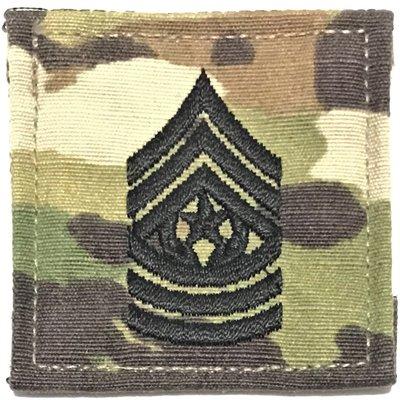 美軍公發 ARMY 陸軍 E-9 Command sergeant major 魔鬼氈階級章 OCP 多地形迷彩 全新