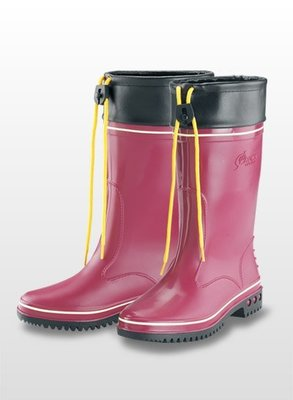 【shich急件】   女用雨鞋  / 車皮加長  暗紅- 高級女用雨鞋
