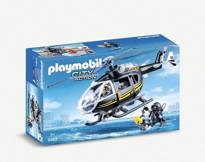 (預購請先詢問)(下標後約7天寄出) playmobil SWAT City Action helicopter playset 直升機
