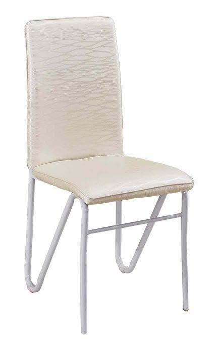 【DH】商品貨號N588-1商品名稱《文特》白紋皮餐椅/餐桌另計。備有雜誌紋皮餐椅另計。簡約雅緻經典。主要地區免運費