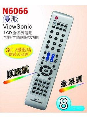 【Donja】ViewSonic 優派 / 翰視奇 / 鈦田 液晶電視遙控器 N6066