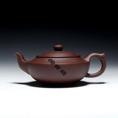 【錦雲閣】特價正宗紫砂壺手工茶壺茶具紫泥功夫茶壺大容量漢扁