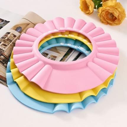 小花花精貨店-買一送一 嬰幼兒洗發帽 可調節防水洗澡浴帽 加厚EVA安全無毒防水#嬰兒洗髮帽