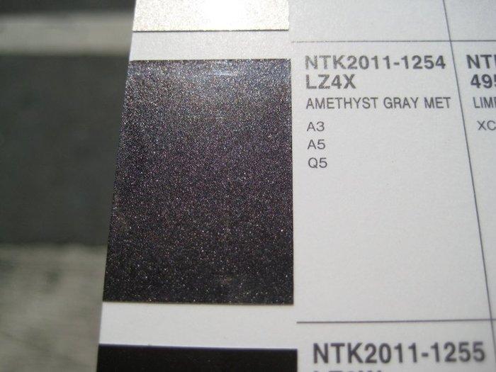 【振通油漆公司】日本ROCK原裝汽車烤漆 補漆 DIY AUDI 車款 A3 A5 Q5 色號 LZ4X 100g