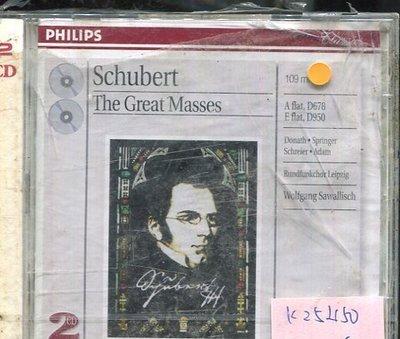 *真音樂* SCHUBERT / THE GREAT MASSES 2CD 全新 K25450 (殼破)