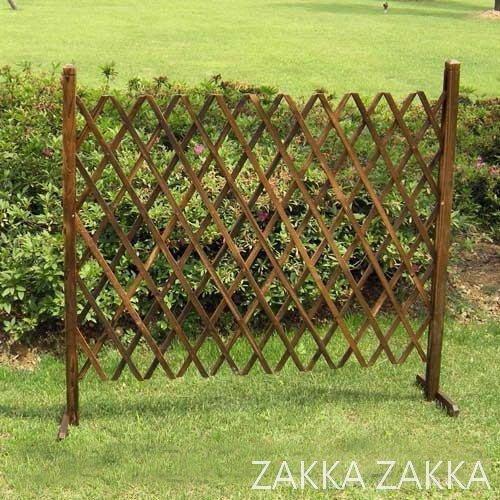 木色伸縮圍籬 中號 鄉村風圍籬 圍欄柵欄圍欄籬笆  庭園花園陽台園藝造景裝飾佈置♡幸福底家♡