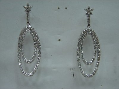 (( 當舖流當二手 )) 造型 3克拉 K金 鑽石 耳環 喜歡價可議 或物品交換 PS224
