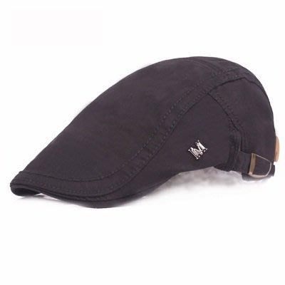 貝雷 帽 鴨舌帽-純色M標休閒戶外男女帽子5色73tv214[獨家進口][米蘭精品]